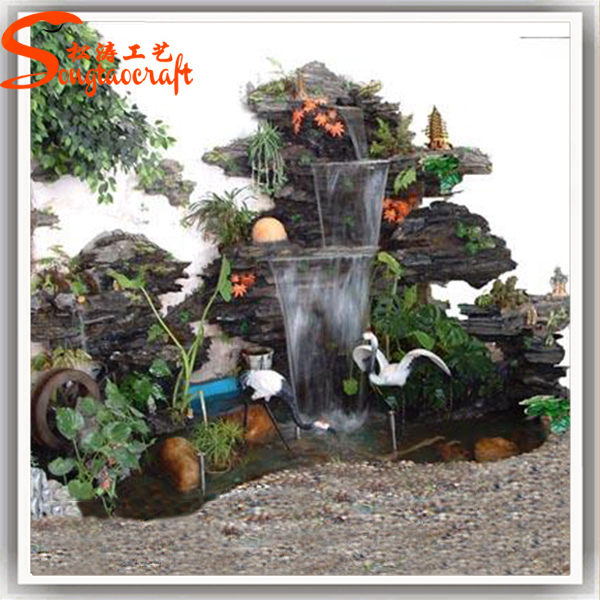 China Water Fountain Factory Indoor Artificial Waterfall
