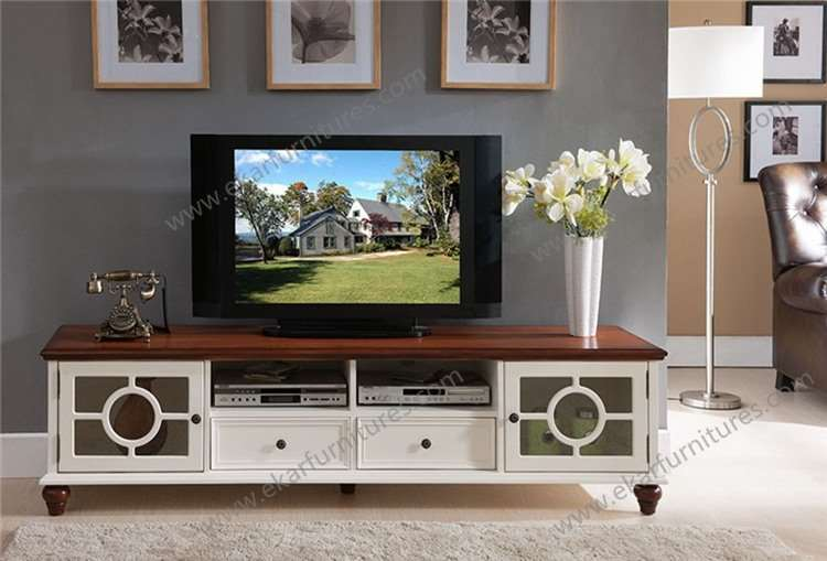 Vintage Antique Country Style Wooden White TV Bench - Vintage Antique Country Style Wooden White TV Bench, View Tv Bench