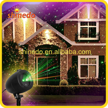 outdoor laser christmas lights projector green and red color - Laser Christmas House Lights