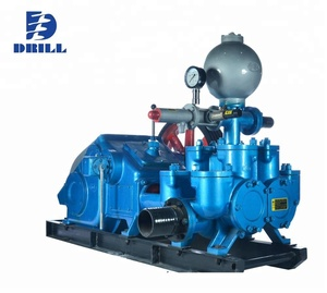 J BW850/2 Horizontal double cylinder reciprocating double action piston slurry mud pump for drilling rig machine