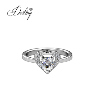 Destiny jewellery wholesale engagement ring wedding ring for ladies crystal from Swarovski
