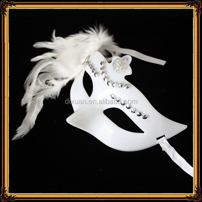 Simple Design Cheap Feather Plastic Masquerade Mask