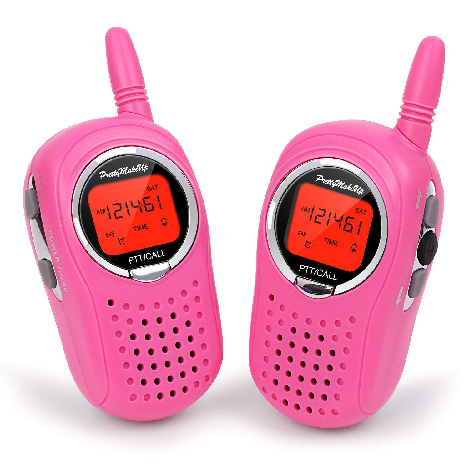Kids Walkie Talkies, B-Bonnie 2 Way Radio 3 Miles UHF Walkie Talkies 22 Channel FRS/GMRS Kids Walkie Talkies (1 Pair) Pink, Mini Walkie Talkie Toys for Kids/Children