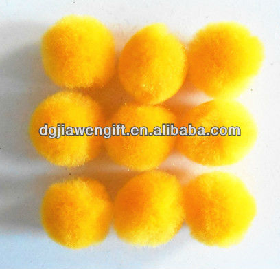 Party supplies 1 Inch Yellow Acrylic pompons,pompoms