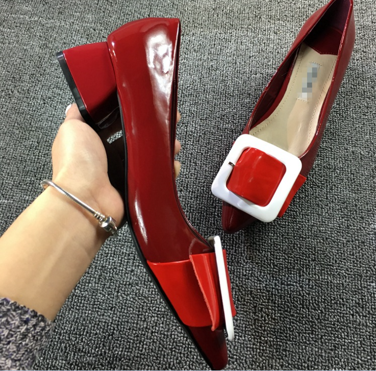 shoes style ladies single casual school heel W10968G fashion new style shoes thick 2016 qCCwA74