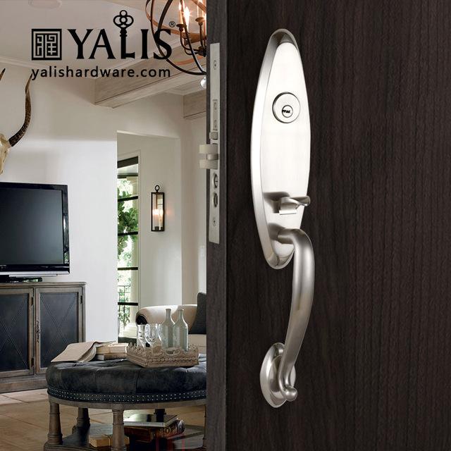 Euro Design Italian Door Lock Handle Zinc Alloy For American Entry Door Lock  Set