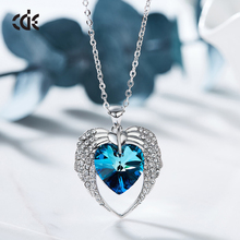 Crystals from Swarovski fashion CDE jewellery factory wholesale 2018 Heart pendant necklace