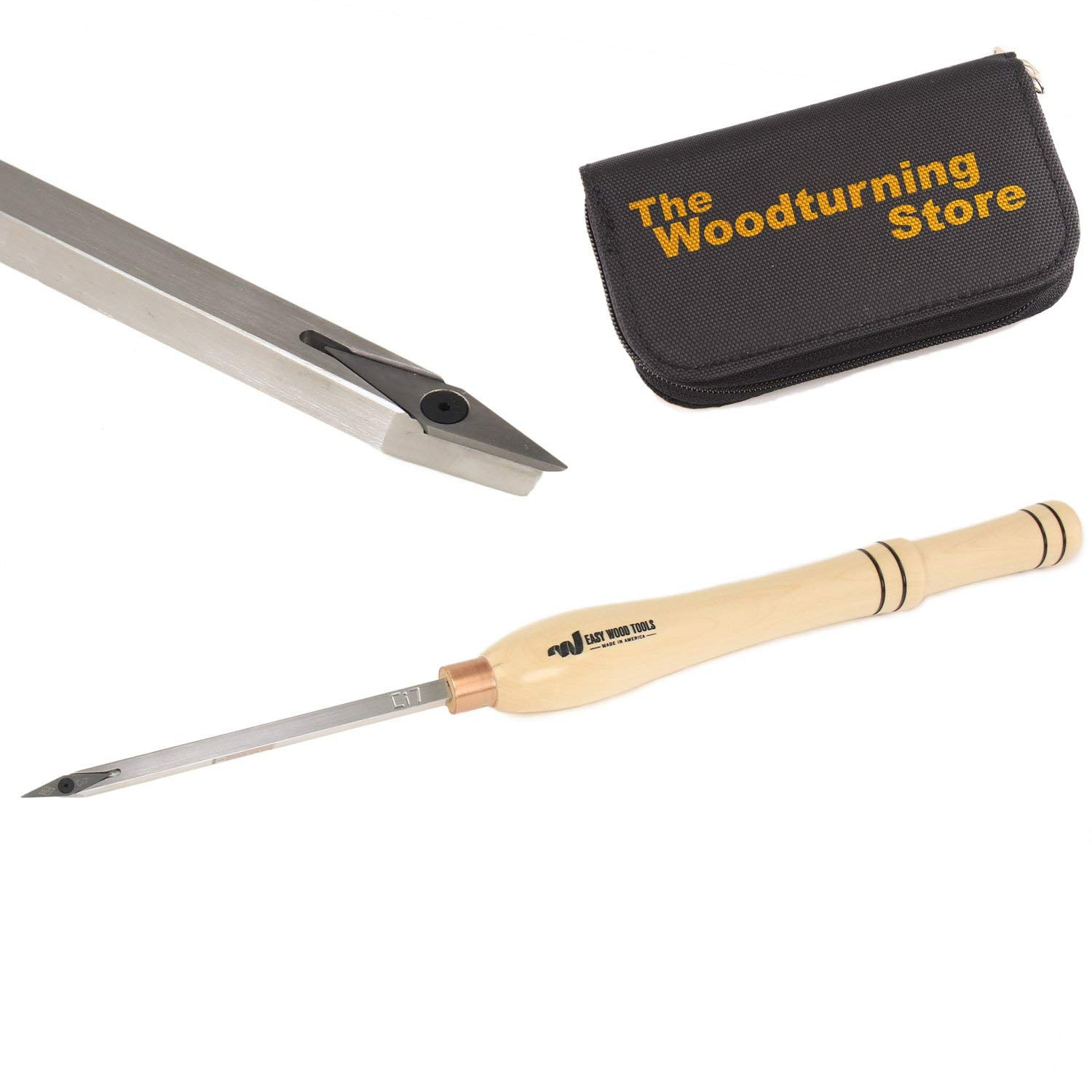Easy Wood Tools, 7700, Mid-Size Easy Micro Detailer with BONUS Woodturning Store Carbide Cutter Holder
