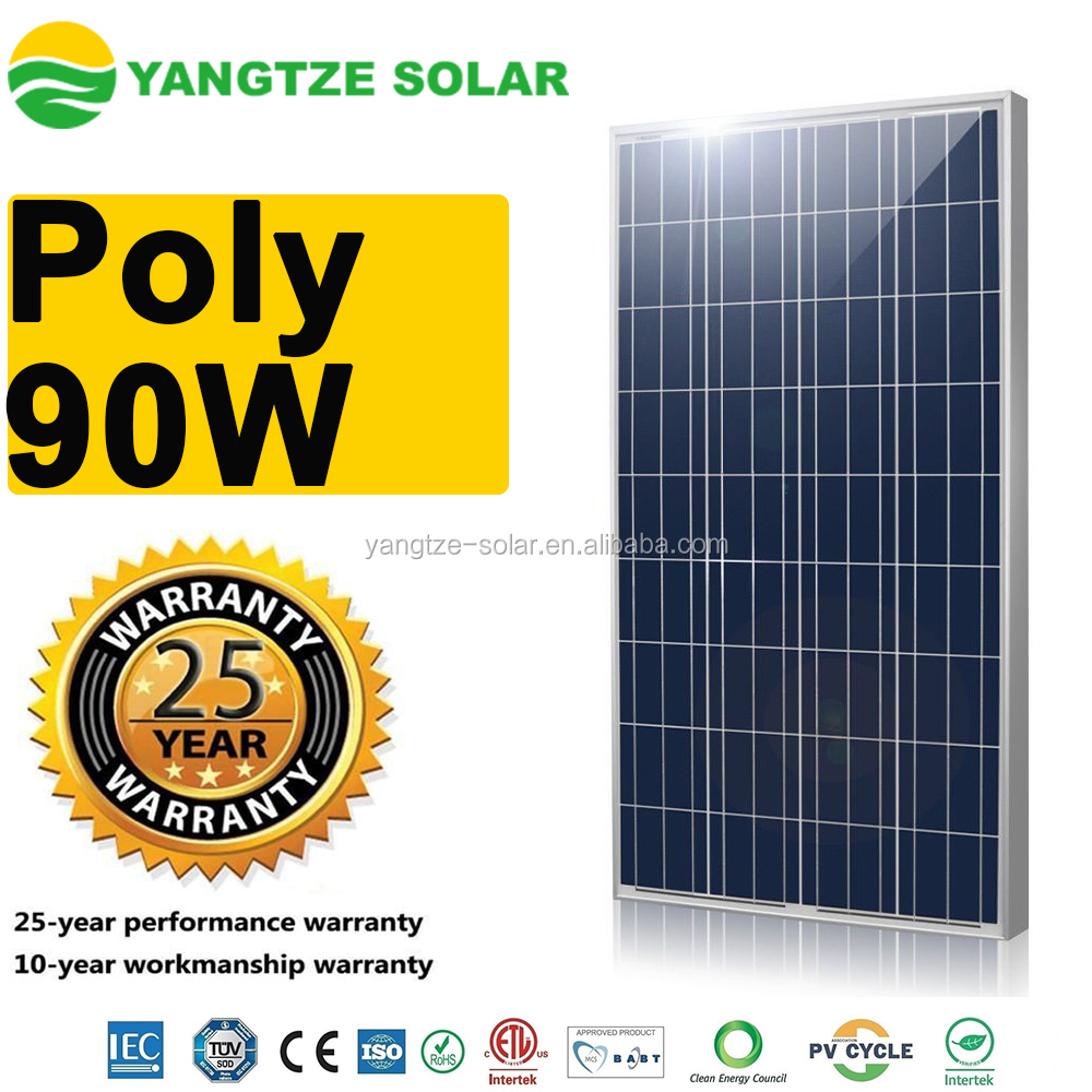 Alibaba Top quality 18v 90w poly solar panel