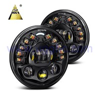 "Factory 7 Inch 80w Round J Eep W rangler Jk Led Headlight 7"" Moto Led Projector Headlamp"