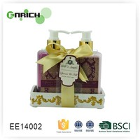 Luxury Ceramic Caddy Hand Soap And Hand Lotion Body Care Gift Set