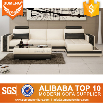 China Modern Unique Home Furniture L Shape Leather Sectional Sofa