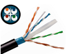 23AWG Solid Bare Copper Conductors Shielded Direct Burial Outdoor Cat6 Cable