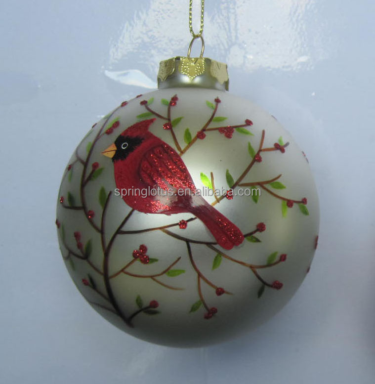 Hign quality hand painted glass ball ornament for christmas