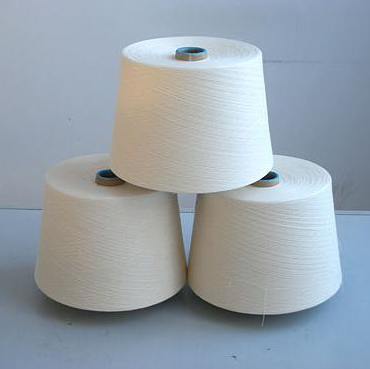 Recycled bleached cotton yarn raw white CVC TC for mop yarn