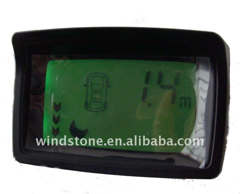 LCD Display with 4 sensors Orange Green Yellow Three Colours Background Auto Parking System