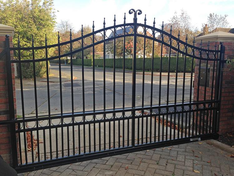 bi folding customized wrought iron gate designs