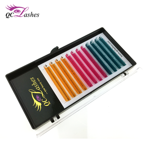 Wholesale colour eyelash extensions with custom packing