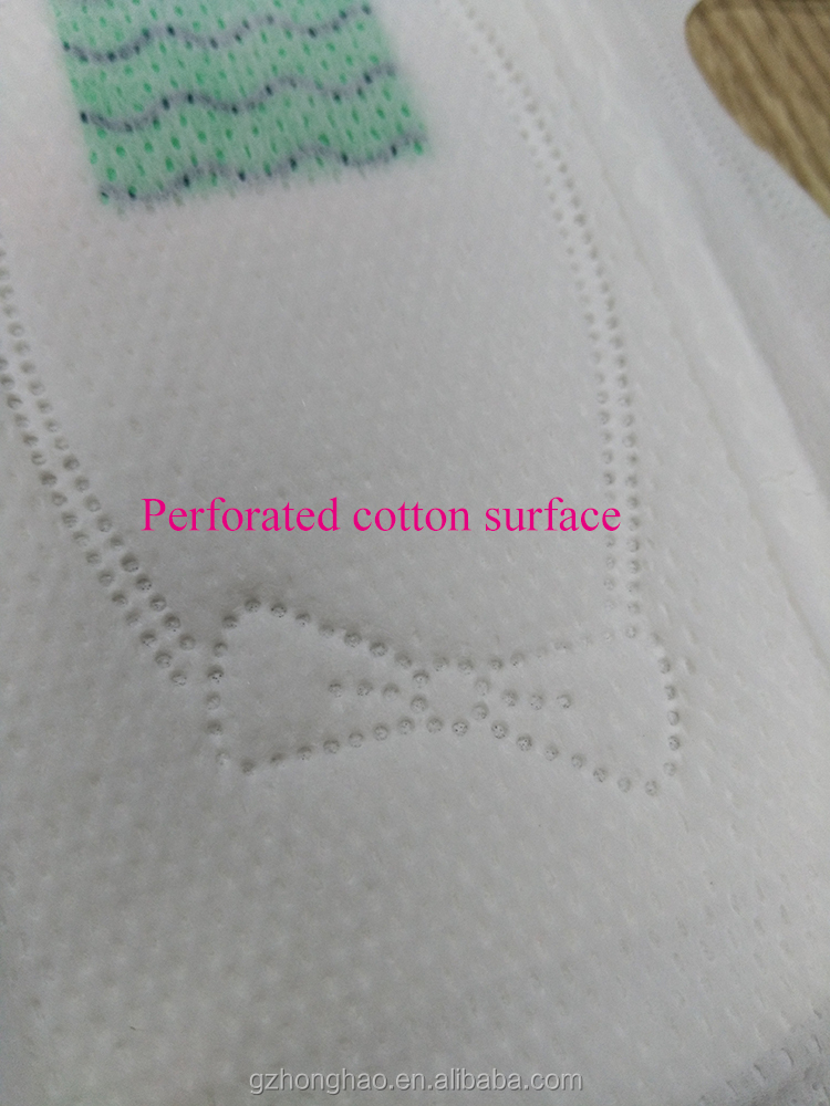 Private Label Product 245mm Disposable Perforated Cotton Anion Sanitary Napkin Side Effect Pads