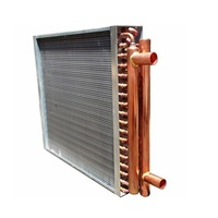Forced air type heating & cooling coil
