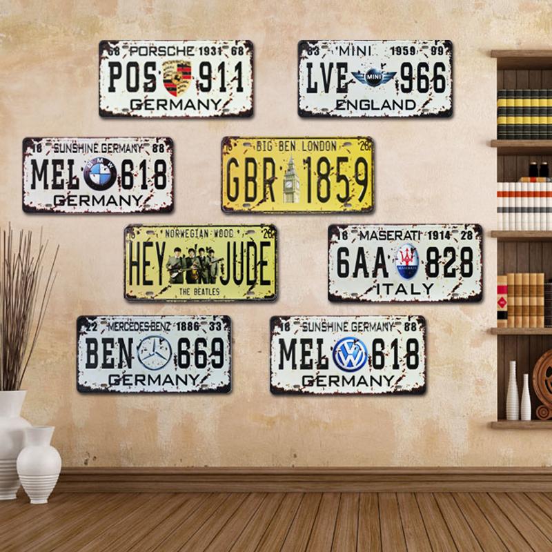 la plaque d 39 immatriculation personnalis e promotion. Black Bedroom Furniture Sets. Home Design Ideas