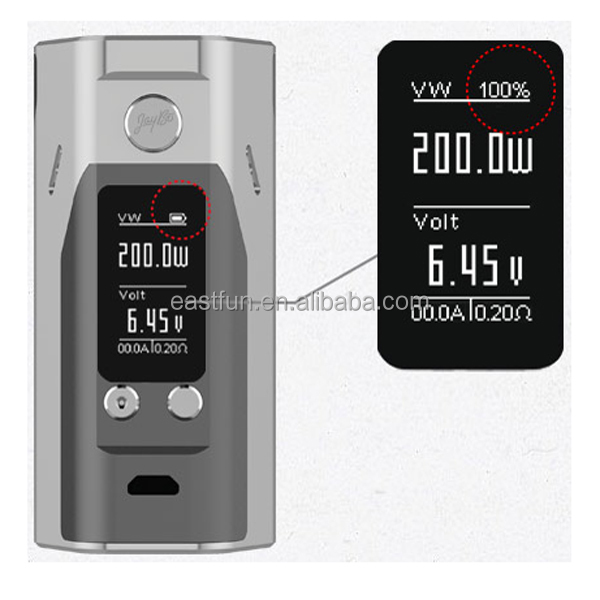 improved 0.96inch OLED Screen Wismec Reuleaux RX200S Mod 200W Vaping Electronic Cigarette Dubai