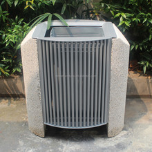 Outdoor aluminium garbage bin garbage trash bin/cement stone garbage box