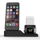 4 IN1 Silicone Desk Stand Holder Hubs Docks Mobile Phone Charging Station for iPhone Apple Watch Airpod