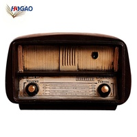 China new innovative product clothing shop bar window decoration shooting props industrial vintage resin radio model
