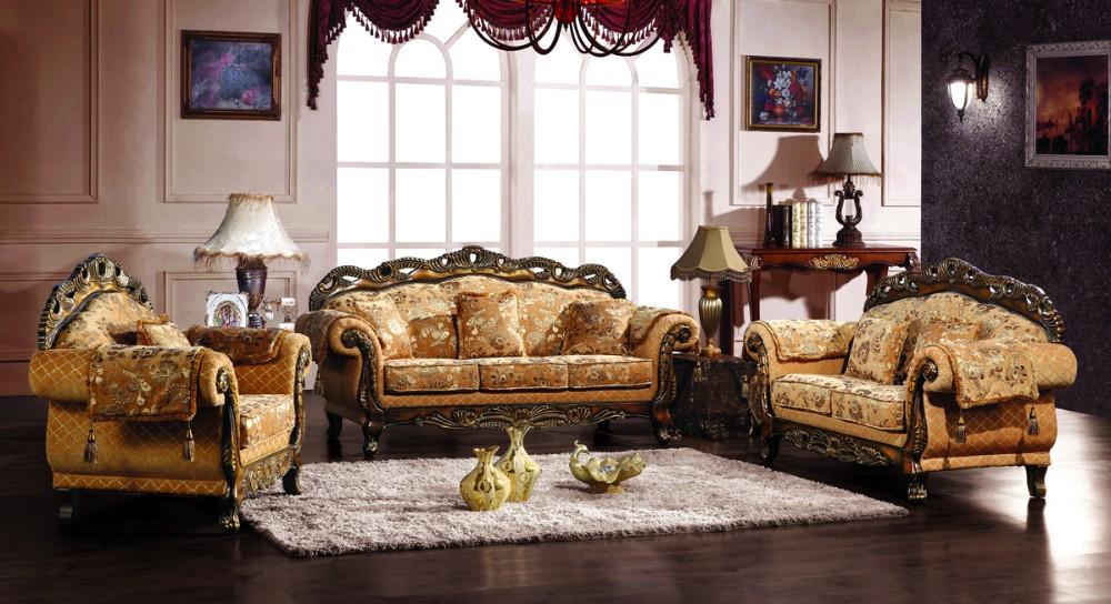 European Style Fabric Sofa Set For Royal Furniture Living