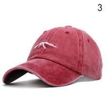 AK47 UZI мужская Кепка с мультипликационным принтом, летние бейсбольные кепки для женщин, Snapback, уличная одежда в стиле хип-хоп, Черная Мужская Р...(Китай)