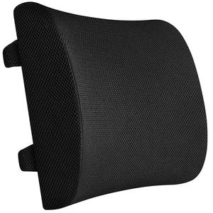 100% Memory Foam Comfort Back Cushion,Non Slip Lumbar Support Pillow for Office, Car and Chair