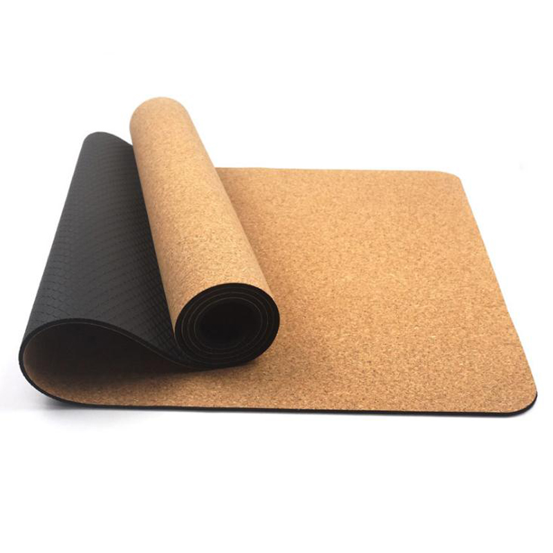 4/5/6 mm Natural Cork Yoga Mat 183*61cm TPE Anti-skid Fitness Mats Gym Exercise mat Gymnastics Pilates Sport Mat Skin-friendly