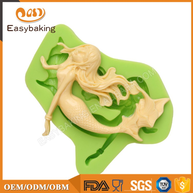 ES-0703 Mermaid Silicone Molds Fondant Mould for cake decorating
