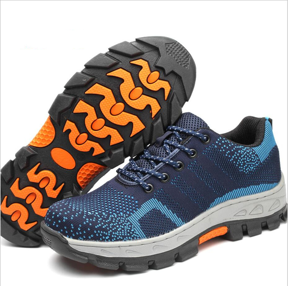 anti puncture anti skidding steel toe/plate inside labor protection Permeable shoes for workerwear FW-FZ0022