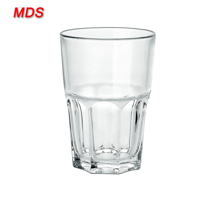 Fancy clear highball glass water tumbler for drinks
