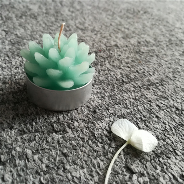 Green plant shaped unique aluminum cups gift tealight candles