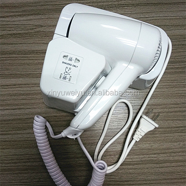 Factory manufacturer wall mounted hotel bathroom professional hair dryer