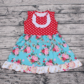 2018 Summer Flower Baby Girls Boutique Dress