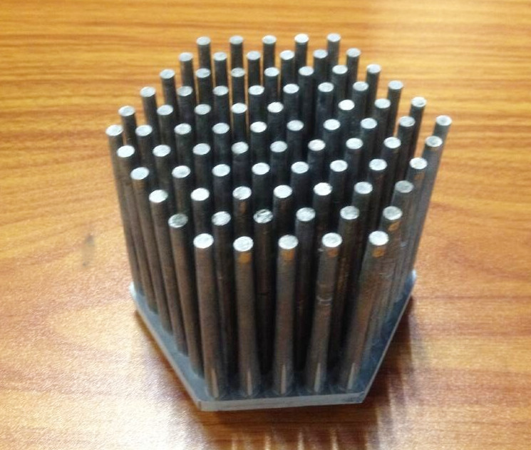 Voc Black Anodized Aluminum Pin Fin Heat Sink Led