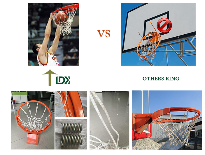 Hydraulic Movable Basketball Stand With Protective Mat Sports Accessories