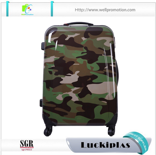 Design Your Own Funny Camouflage Suitcase Print Hardshell
