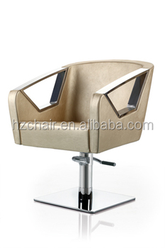 2015 Popular Gold Salon Barber Chairs With Stainless Steel Armrest