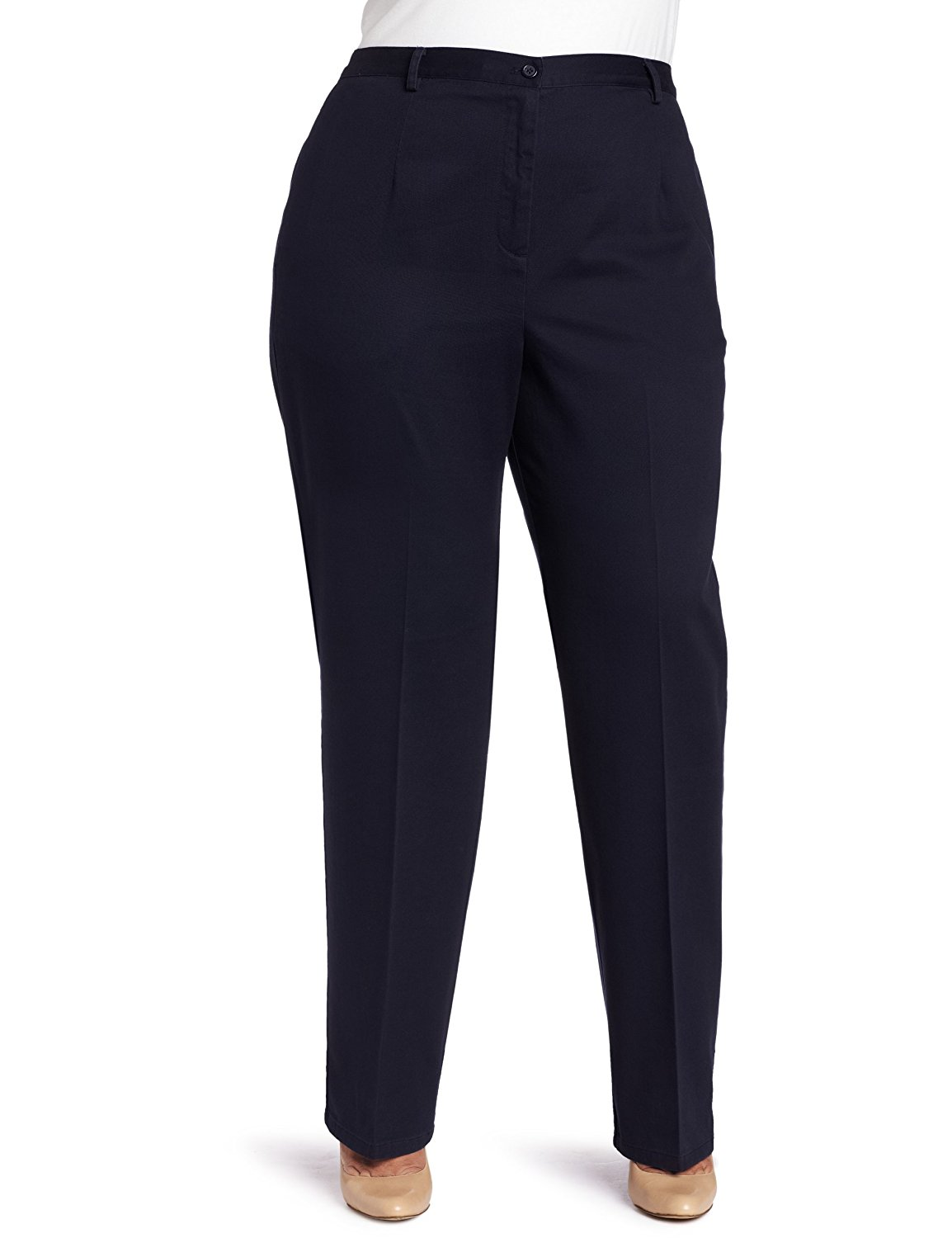 1ed13b41bc37 Get Quotations · Pendleton Women s Plus-Size Wrinkle Less Everyday Chinos  Pant