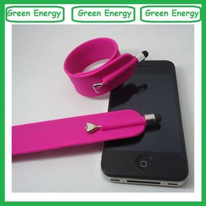 Capacitive Wrist Silicone Screen Touch Pen,silicone slap wrist bands