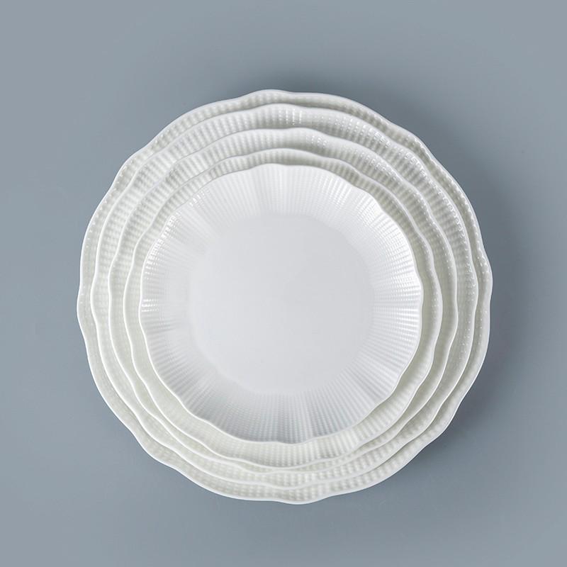 product-Two Eight-Bone China Porcelain Hotel Restaurant Crockery Tableware Platter, Bone China Porce-1