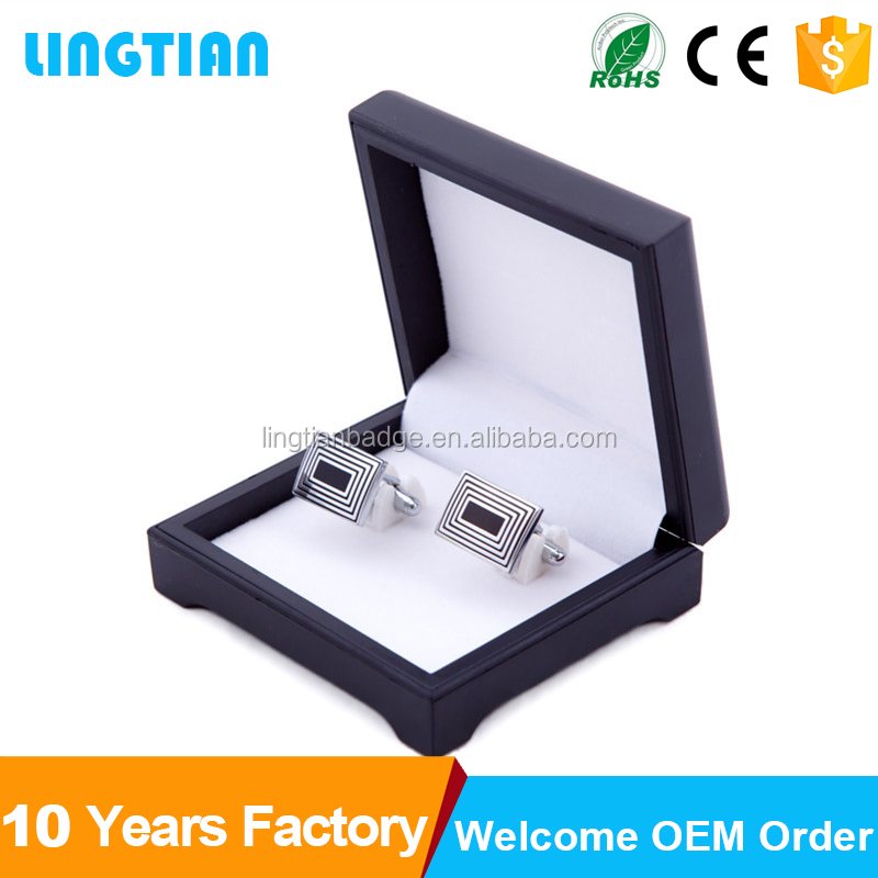 2016 New Style Personalised Wooden Cufflink Box With Customized Logo