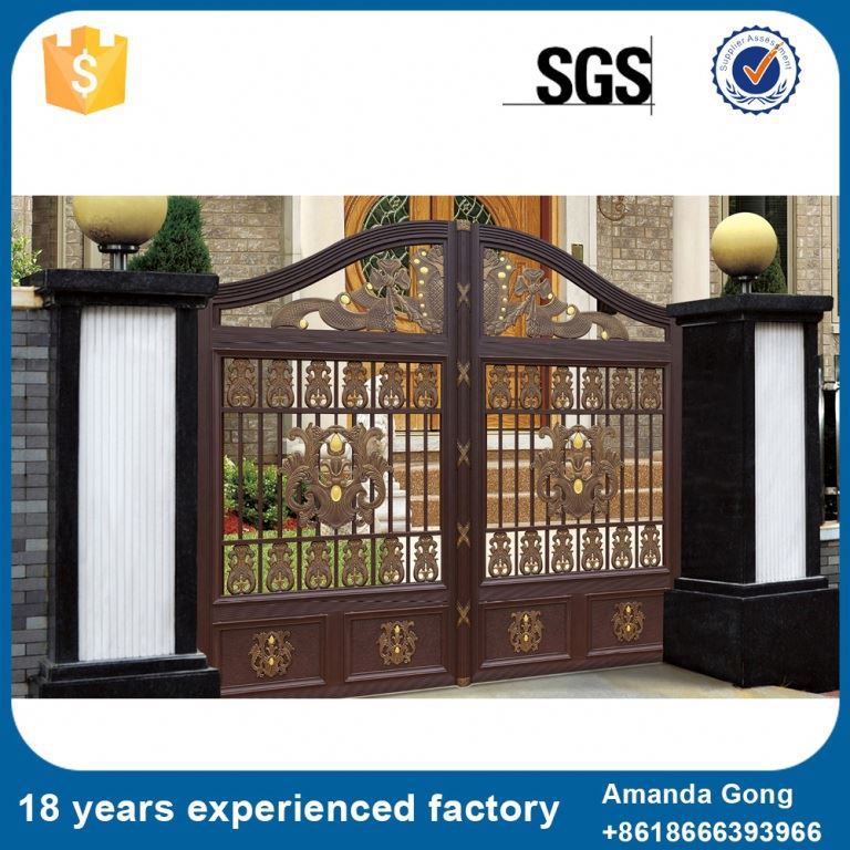 Decorative And Practical Wrought Iron Side Gate Ornaments Rosettes