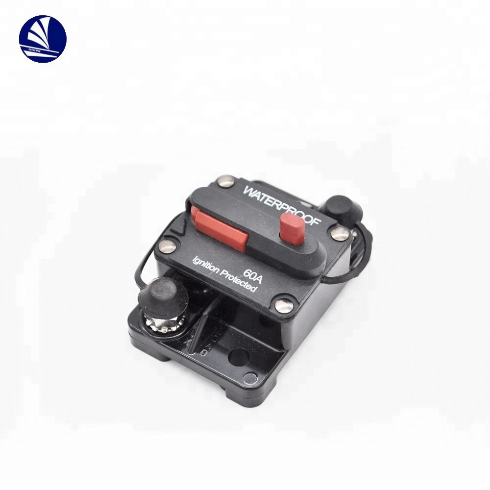 marine boat/car waterproof high-amp thermal fuse block circuit breakers box  automotive