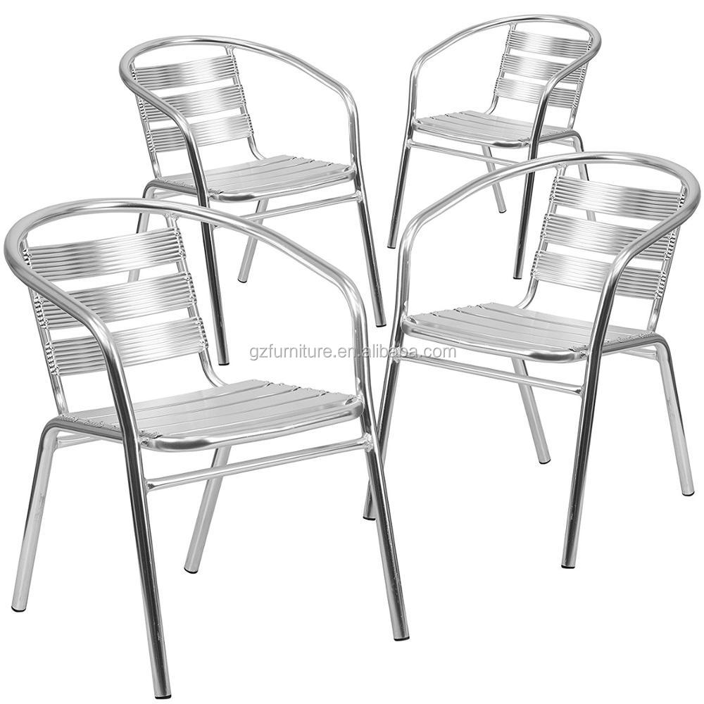 Aluminum Indoor-Outdoor Table Set with 2 Slat Back Chairs